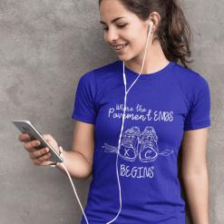 T Shirt Print Design Where the pavement ends XC begins cross country t-shirt design
