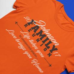 Love Brings You Home Family Reunion Custom T-Shirt Design Template | T Shirt Design Tutorials