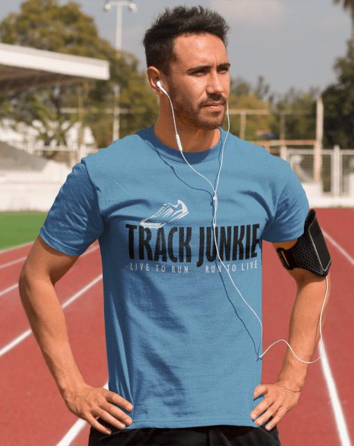 Track Junkie Track & Field Running Athletic T-Shirt Design
