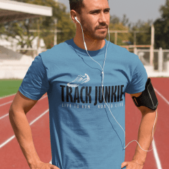 Track Junkie Track & Field Running Athletic T-Shirt Design