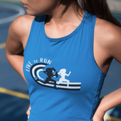 Girls Track & Field Running Live To Run Custom T-Shirt Design Template