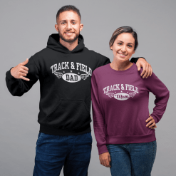 Track & Field Mom Dad T-Shirt Design