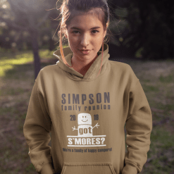 S'mores Happy Camper Family Reunion Camping T-Shirt Design Template