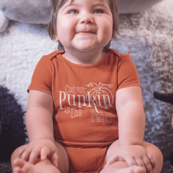 Cutest Punkin In The Patch Fall Pumpkin T-Shirt design baby onesie design