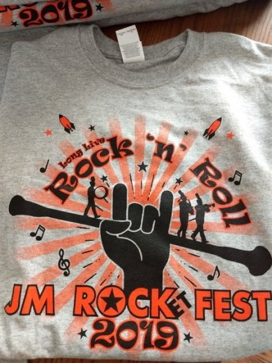 JM ROCKet FEST 2019 custom screen print t shirt design