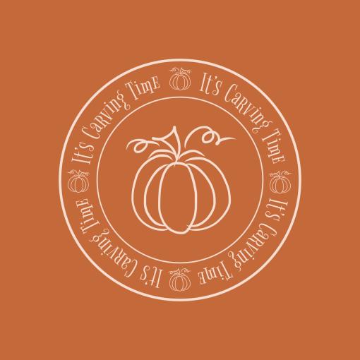 Carving Pumpkins T-Shirt Design Carving Time Circle merch ready fall autumn Halloween t-shirt design