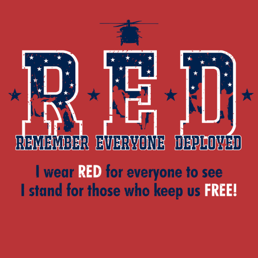 RED Friday T-Shirt Design - Remember Everyone Deployed vector graphic t-shirt print design