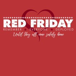 Wear Red Friday Design Military shirt vector graphic t-shirt print design