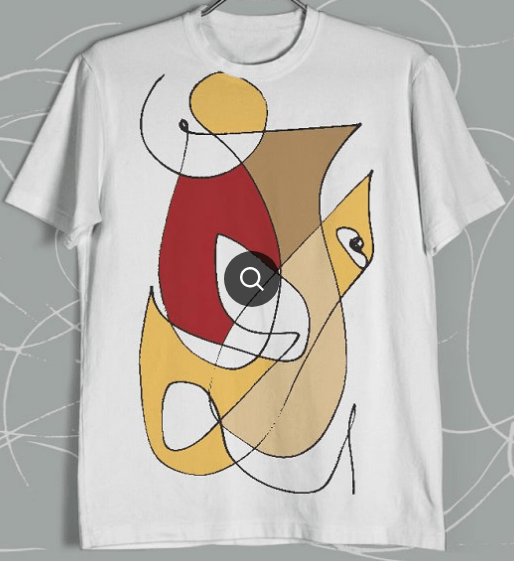 abstract drawing t-shirt design trend