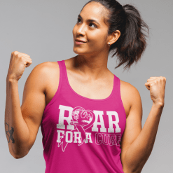 Roar For A Cure - Breast Cancer T Shirt Design 2