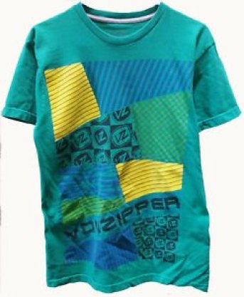 80s and 90s color block t-shirt print design trend