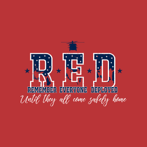 RED Friday Deployment Shirts Chopper T-shirt Design