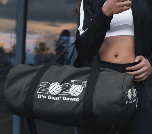 Senior class of 2020 volleyball slogan graduation vector t-shirt print design senior 2020 logo gym bag