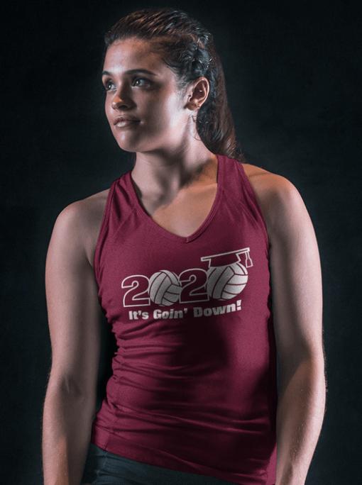 Senior class of 2020 volleyball slogan graduation vector t-shirt print design senior 2020 logo tank