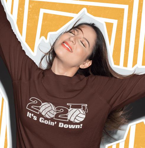 Senior class of 2020 volleyball slogan graduation vector t-shirt print design senior 2020 logo_cropped