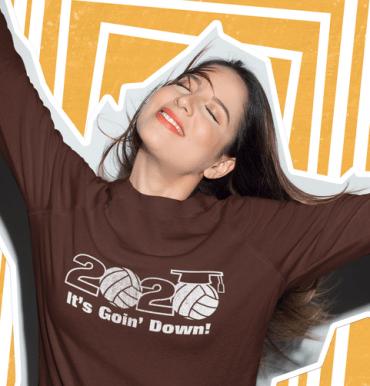 Senior class of 2020 Senior night t shirts for volleyball slogan graduation vector t-shirt print design