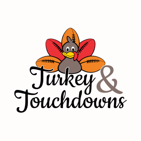 Turkey & Touchdowns Thanksgiving T Shirt Design
