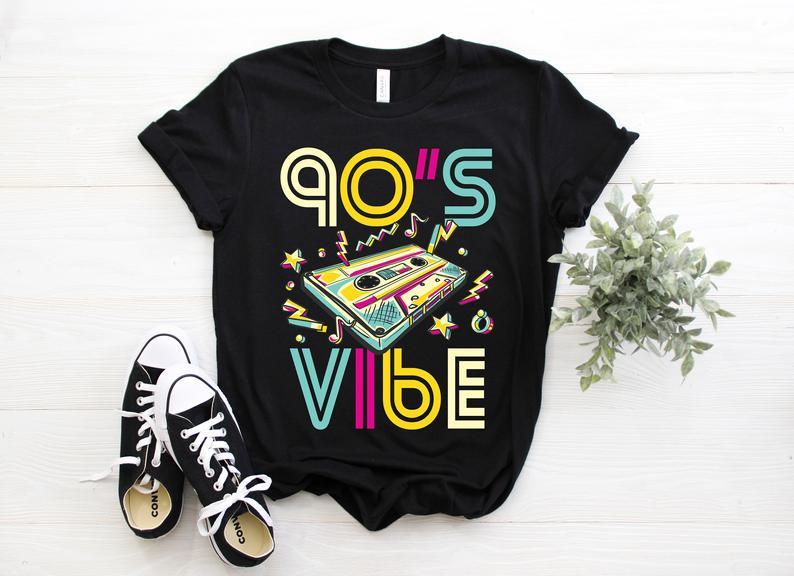 1990 Vibe nostalgic 80's and 90's t shirt design trends