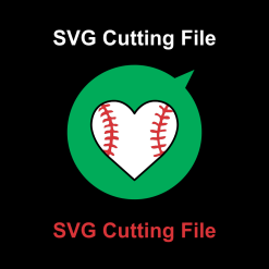 Heart Sports Baseball SVG Cutting File