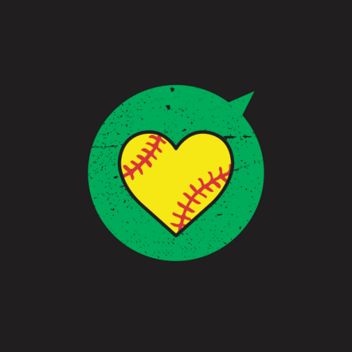 Heart Sports Softball T Shirt Designs