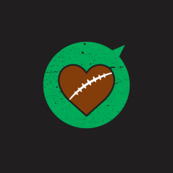 Heart Sports Love Football T Shirt Designs | Valentine T Shirts