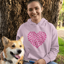 Dog Love T Shirts design | Heart paws Valentine gift idea for pet lovers