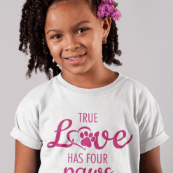 Love dog shirts | True Love Has Four Paws Valentine dog shirts design pet lovers Valentine gift idea