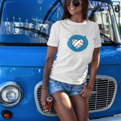 Heart Love Sports Volley T Shirt Designs | Valentine Gift Ideas