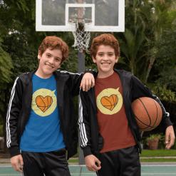 Heart Sports Love Basketball T Shirt Designs | Valentine T Shirts