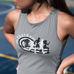 Track & Field T-Shirt Designs - One Track Mind ready made t-shirt print design for track and field shirt designs catchy track and field slogans for t shirts