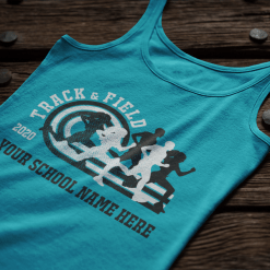 Running Track T Shirts Custom T Shirt Design Template Track & Field 2020 track and field shirt designs
