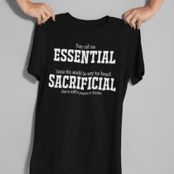 Essential Worker T Shirts - Sacrificial Pandemic T Shirts Design 2