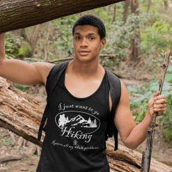 Hiking Shirts - Go Hiking & Ignore My Adult Problems Hiking T-Shirts Designs