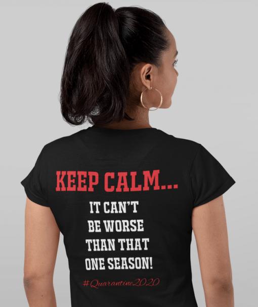 Track and Field Quarantine 2020 Shirt Design - Keep Calm   Pandemic Coronavirus Ready Made T Shirt Print Design