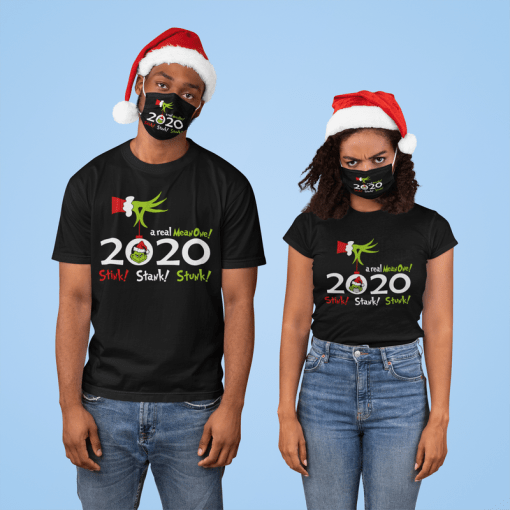 Christmas 2020 Stink Stank Stunk - Funny Grinch Pandemic SVG T Shirt and Face Masks Design
