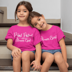 Cute Flower Girl Shirt - Ring Bearer Wedding SVG Design Bundle - Petal Patrol aka Flower Girl