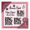 Cute Flower Girl Shirt - Ring Bearer Wedding SVG Design Bundle