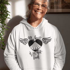 Track SVG - My Heart is on that Track - Track and Field T Shirt Design - Track Mom - Track Dad