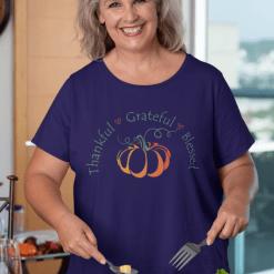 Thankful Grateful Blessed SVG T Shirt Design - Thanksgiving SVG Print Design