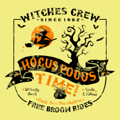 Hocus Pocus SVG - Witches Crew Halloween Shirt Designs - Cute Halloween SVG Ready-to-Print or Cut T-Shirt Design