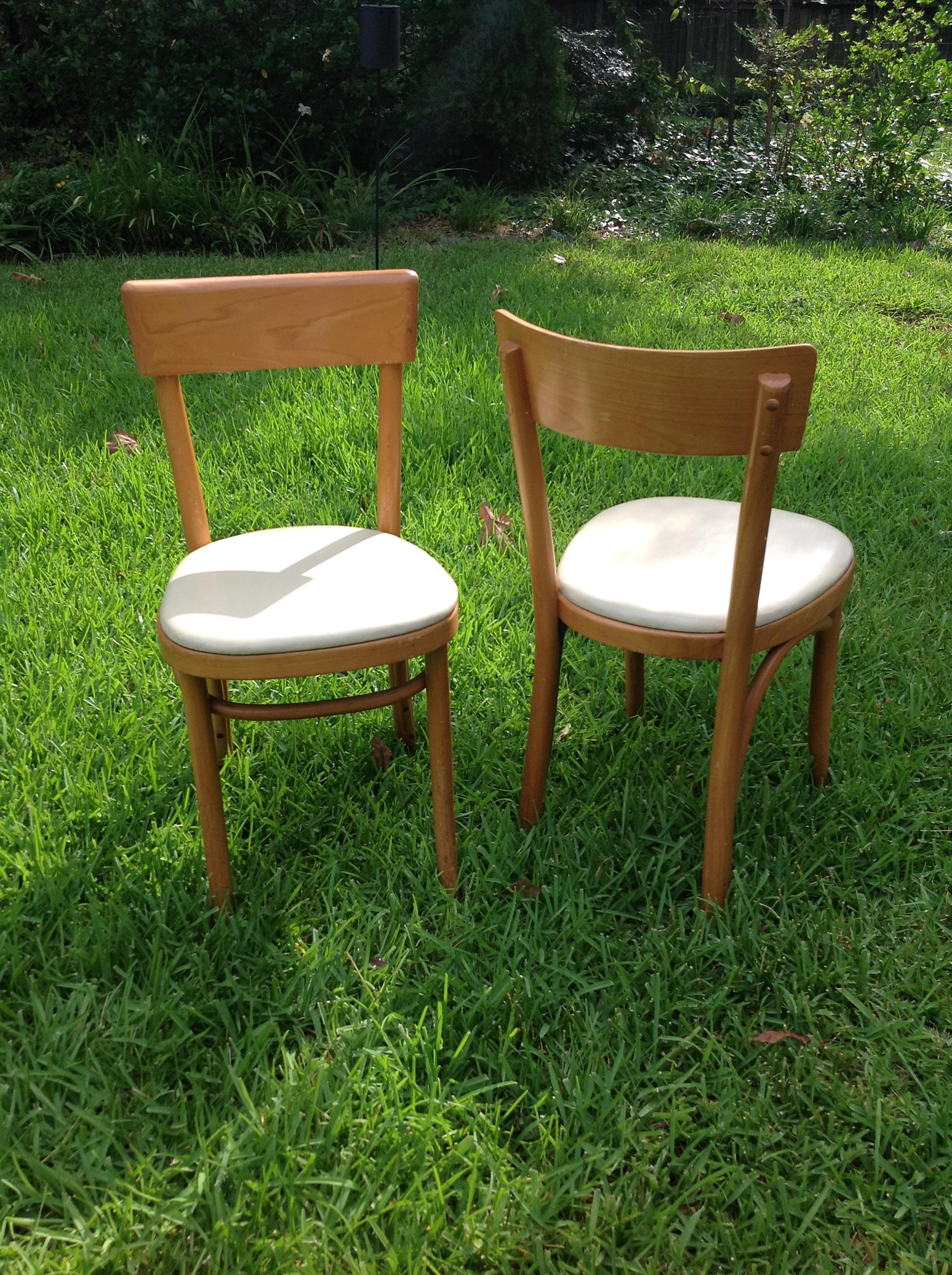 thonet chairs pair