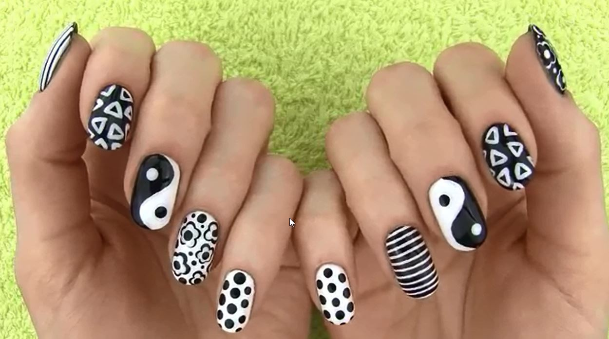 Black and white nail art best videos and pictures now you can make gorgeous white and black nail art thanks to this tutorial and the nail art videos by missjenfabulous above go and show off your pretty prinsesfo Image collections