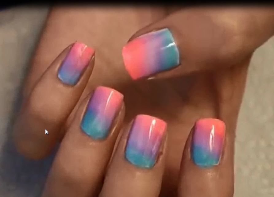 Ombre nails art at home easiest and pretty how to do the ombre nails effect in two steps prinsesfo Image collections