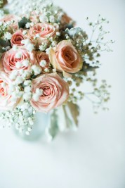 pink and white floral bouquet by geneva, illinois florist