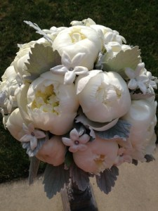 round white bridal floral bouquet