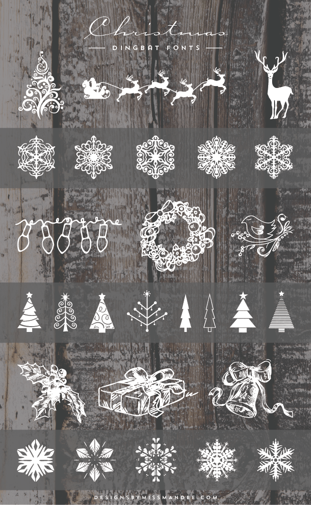 Christmas Clip Art Swirly
