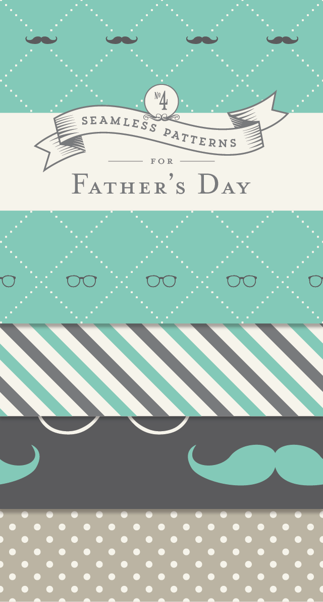 Seamless Patterns for Father's Day