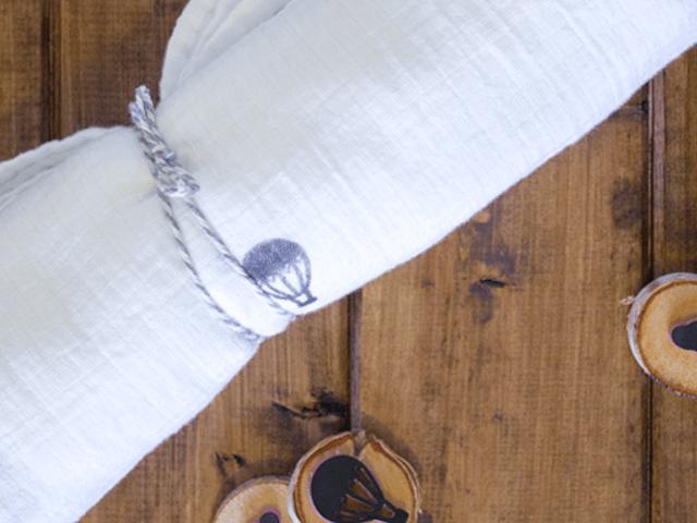 DIY Stamped Swaddle Blanket