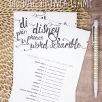 Disney Prince Word Scramble