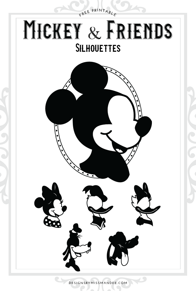 Mickey and Friends Silhouettes